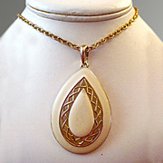 Mod Enameled Dangle Drop Necklace