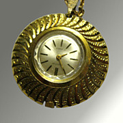 Austin Pendant Watch 17 Jewels Necklace Mid Century Design Mechanical Wind Up Watch Working Co