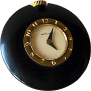 Westclox Handbag Black Bakelite Watch in Working Condition / 1930s Watch / Mechanical Watch /