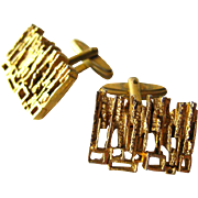 Gold Nugget Mid Century Cufflinks / Mod Cufflinks / Cuff Links / Mens Fashion / Mens Gift