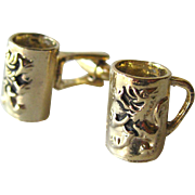 German Beyer Lion Beer Stein Cufflinks / German Lion Beer Mug Cuff Links / Mens Fashion / Mens