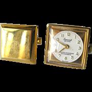 SALE PENDING Mechanical Working Genovit Watch Cufflinks / Timepiece Cuff Links / Mens Fashion