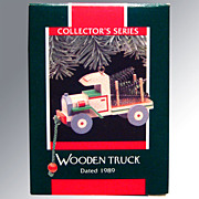 Hallmark Keepsake Ornament Wooden Truck Collector's Series