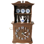 Spartus Kitchen Duncan Phyfe Style Hutch Clock / Vintage Home Decor / Wall Clock / Retro ...