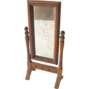 Cheval Mirror Vintage Miniature Doll House / Dollhouse Furniture / Miniature Furniture / ...