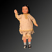 """5"""" Bisque Dollhouse String Jointed Arm Doll"""