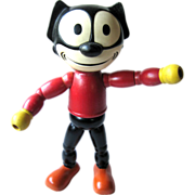 Rare Felix the Cat Rubber Head Wood Body 1940s By Cameo Doll Company / Vintage Doll ...
