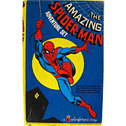 The Amazing Spider Man Colorforms Adventure Set / Colorforms Toy / Vintage Colorforms / Action