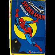 The Amazing Spider Man Colorforms Adventure Set / Colorforms Toy / Vintage Colorforms / Action