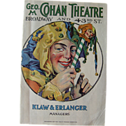 Cohans Theater 1920s Program / Playbill / Paper Ephemera / Advertising / New York Memorabilia