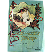 Knickerbocker Theater 1920s Program / Playbill / Paper Ephemera / Advertising / New York Memor