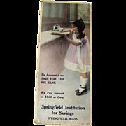 Vintage Advertising Ink Blotter / Advertising Trade Cards / Vintage Illustration / Bank ...