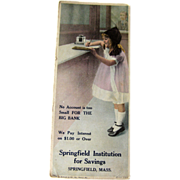 Vintage Advertising Ink Blotter / Advertising Trade Cards / Vintage Illustration / Bank Advert