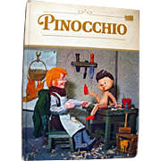 Pinocchio Vintage Puppet Book Illustrated by Tadasu Izawa and Shigemi Hijikata - 1971 Grosset
