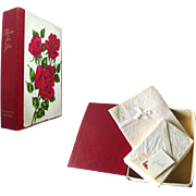 Roses For You Vintage Stationary Boxed Set / Vintage Letter Writing /