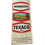 Texaco Minnesota Map 1970s Vintage Road Map /Vintage Ephemera / Scrapbooking / Vintage Adverti