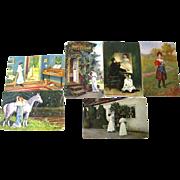 Lot of Women Artwork German Postcards / Vintage Ephemera / Artist Signed Post Cards
