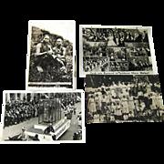 Photographic Postcards Kami Girls / German Carneval / Picnic Scene / Vintage Postcards / Vinta