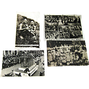 Photographic Postcards Kami Girls / German Carneval / Picnic Scene / Vintage Postcards / Vinta
