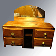 Doll House Dresser with Mirror and Brass Handles