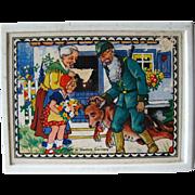 SALE PENDING West Germany Wooden Puzzle Blocks / Vintage Childrens Blocks / Wood Blocks / Pict