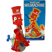 SOLD Mr Machine Mechanical Vintage Toy In Original Box 1970s / Vintage Childrens Toy