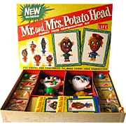 SOLD Mr and Mrs Potato Head Boxed Set Vintage 1950s Toy / Mint in Box / Vintage Toy