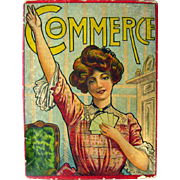 Antique Game The Game Of Commerce 1900s Card Game By J Ottmann Lotho Company In Original Box /