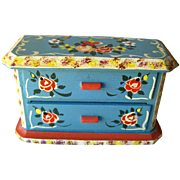 Miniature Hand Painted Dresser by Dora Kuhn West Germany / Dollhouse Furniture / Miniature Che