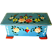 Dora Kuhn Miniature Hope Chest West Germany Hand Painted / Dollhouse Furniture / Miniature Hop