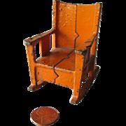 Kilgore Miniature Dollhouse Cast Iron Chair / Dollhouse Miniature