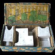 Borgfeldt Porcelain Kitchen Appliances Dollhouse Set in Original Box / Dolly Kitchen De Luxe /