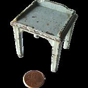 Cast Iron Dollhouse Table or Desk / Miniature Dollhouse Furniture / Kilgore Dollhouse Miniatur