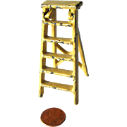 Kilgore Cast Iron Step Ladder / Miniature Cast Iron Dollhouse / Dollhouse Miniature