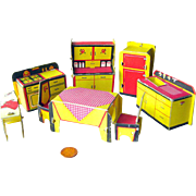 Built Rite Miniature Dollhouse Kitchen Furniture Set No 49 / Dollhouse Kitchen / Miniature Kit