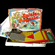 Spiele Magazin Austrian Game Set - JSJ Autstria - Boxed Game Set - Vintage Horse Race Game - .