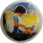 "REDUCED Viletta collector plate : "" By Myself"" by Donald Zolan      Circa: 1980"