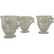 Duncan Glass 3 Teardrop  Espresso Cups    Circa: 1938 - 50s