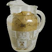 Hazel Atlas Ice Lip Lemonade or Tea Pitcher