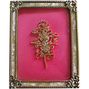 Framed Quilling Flower