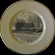 REDUCED Cabinet Plate of Horsham Friends Meeting: Horsham, Penn.