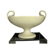 REDUCED Lenox oval bowl on pedestal with handles Circa: Pre 1953