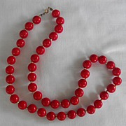 Red Beads 24inch strand