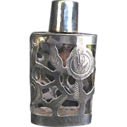 REDUCED Perfume Bottle: Mexican Sterling Overlay