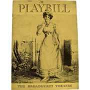 SOLD Playbill: The Broadhurst Theatre  1935