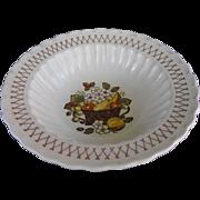 Vernonware Fruit Basket by Metlox round vegetable bowl circa 1970
