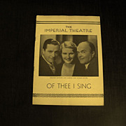 Playbill: The Imperial Theatre           Circa: 1933