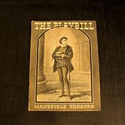 Playbill: Mansfield Theatre  1935