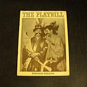 Playbill: Windsor Theatre   Circa 1940