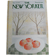 The New Yorker Magazine Cover: November 28, 1970